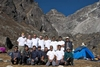 Trekking and Sherpa Team at Lobeshe Base Camp